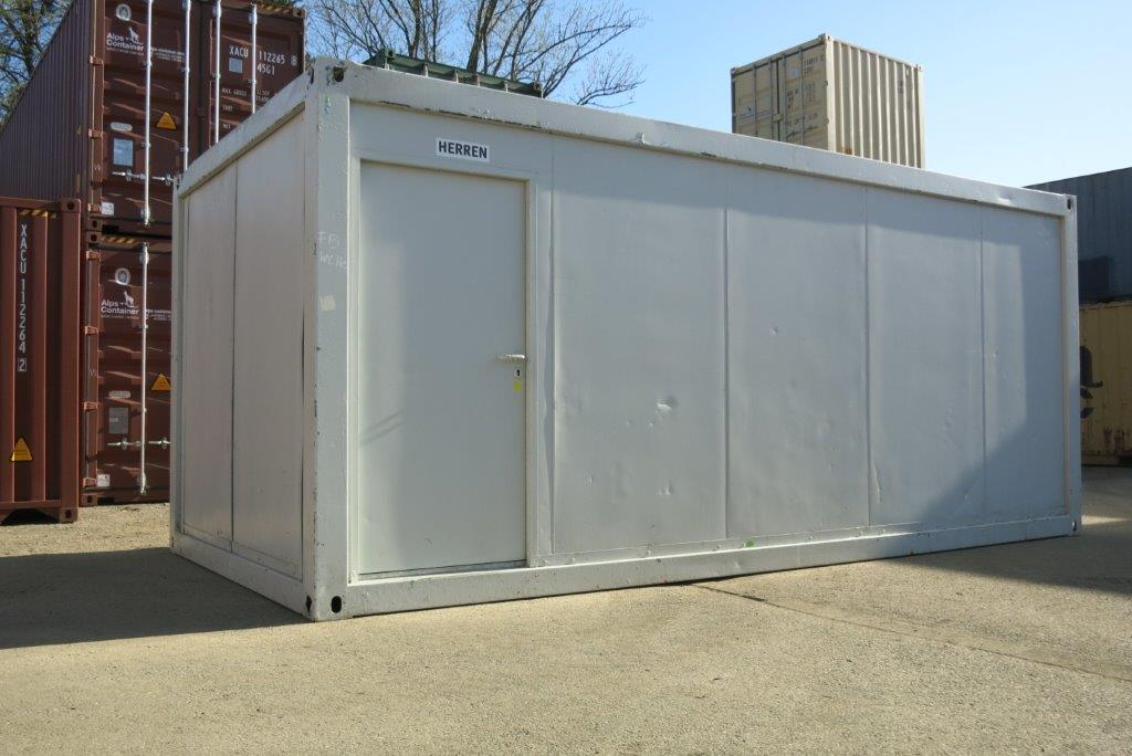 20ft WC-Container, gebraucht